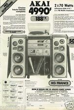 Publicité advertising 1981 La Chaine Hi-Fi Akai