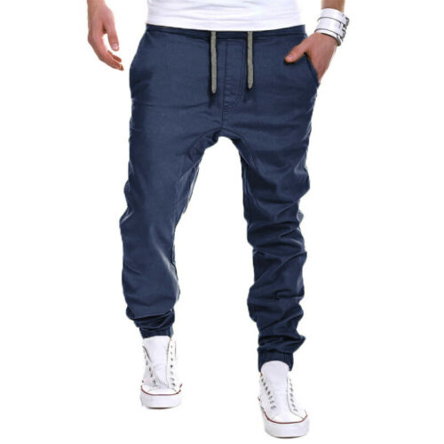 Mens Tapered Cargo Combat Pants Joggers Sports Training Bottoms Trousers Casual