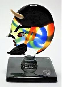 Scultura Icona Omaggio a Picasso in vetro di murano Made Italy