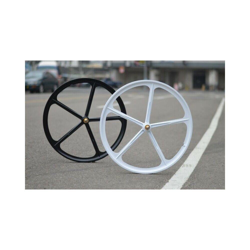 Set ruote in lega 5 razze star5 fixed bici single speed rad fixie mag rims wheel