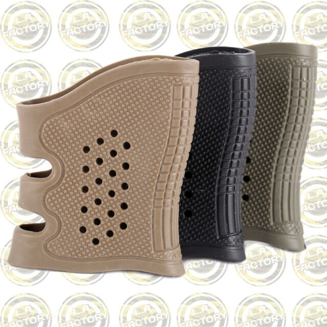 3PCS Pack Tactical Anti Slip Rubber Hand Grip Sleeve Fits All Glock 17~38 Series