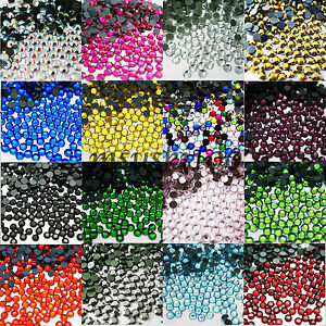 1000-DMC-HOT-FIX-CRYSTALS-FLAT-BACK-IRON-ON-RHINESTONE-DIAMANTE-BEADS-WITH-GLUE