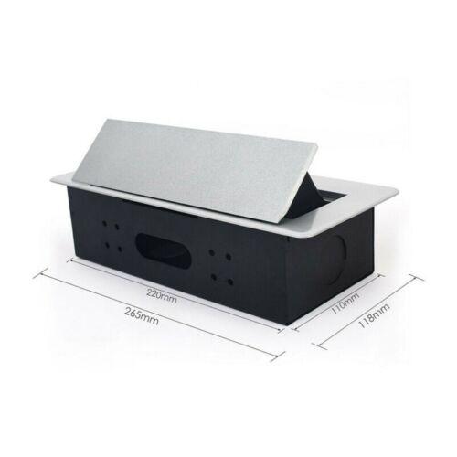 Pop Up Pompe Prise électrique Plan de Travail Cuisine Bureau Desk Charge USB