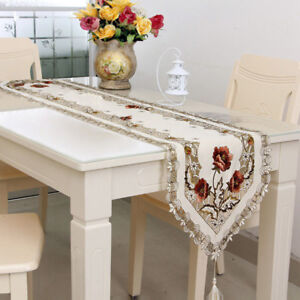 New-Table-Runner-Floral-Embroidered-Tablecloth-Vintage-Wedding-Party-Decoration