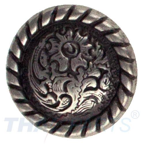 Concho #176 20mm Western Stirnriemen Rund Seil Antik Silber Conchos Concha