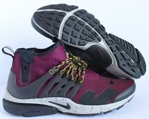 1b8d805eea6c NIKE AIR PRESTO MID UTILITY BORDEAUX-BLACK-PALE GREY SZ 9 SAMPLE ...