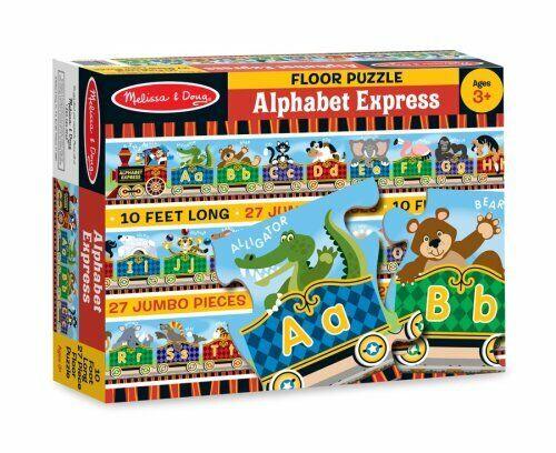 Melissa /& Doug Alphabet Express Jumbo Jigsaw Floor Puzzle 27 pcs, 10 feet long