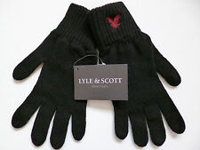Lyle and & Scott mens wool gloves black red eagle NEW woollen winter warm