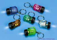 (12) Flashlight Bulb - Fun Size Mini Key Chains - Wholesale Lot (1 Dozen)
