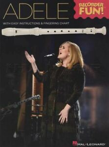 Details About Adele Recorder Fun Sheet Music Book Chasing Pavements Hello Remedy Skyfall