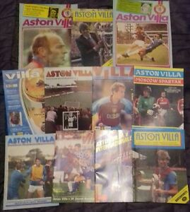 11-x-Aston-Villa-Home-European-Programmes-1970s-00s-All-Listed-Bulk-Joblot-1