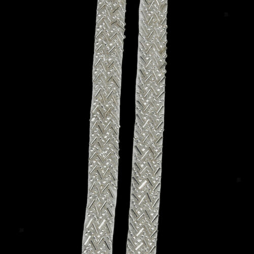 1yard White Sewing Beaded Trim Chain Costume DIY Clothing Decor Applique Craft