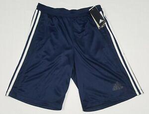 Adidas Men's D2M 3 Stripes Basketball Climate Fabric Shorts Blue Grey BR1465