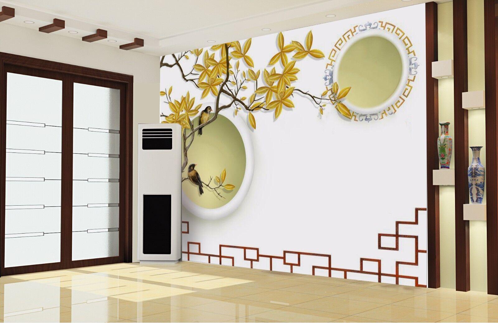 3D Flower Bird Theme 8 Wall Paper Murals Wall Print Wall Wallpaper Mural AU Kyra