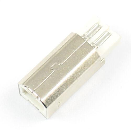 100Pcs USB 2.0 Type B 4 Pin Male Solder Plug Connector Socket For Printer Port