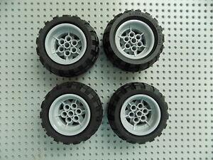 Lego 68.7 X 34r Technic Wheel Lot  4 pcs  Rims Wheels Tires 68.7x34r