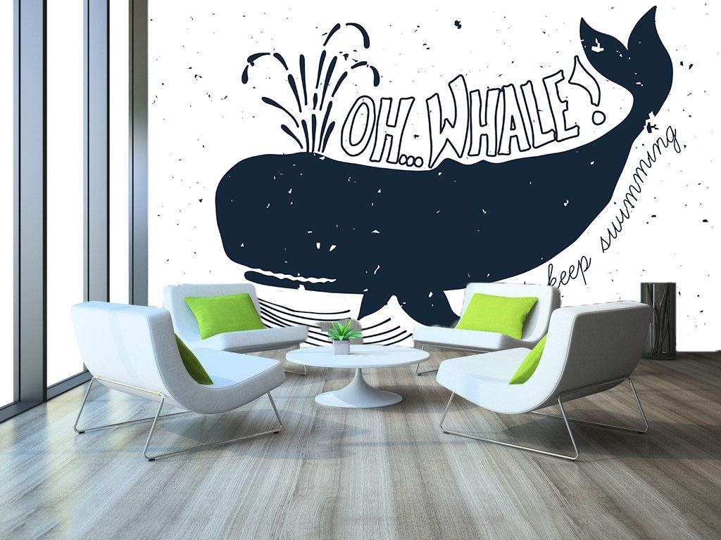 Papel Pintado Mural De Vellón Ballena Animación 122 Paisaje Fondo De Pantalla ES