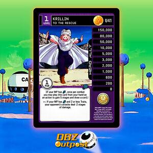 Dragon Ball Z DBZ CCG TCG Custom Proxy Foil U41 Krillin To The Rescue