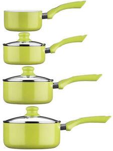 Ecocook-Lime-Green-Cookware-Pan-Saucepan-Milkpan-Set-Aluminium-Kitchen-Pans-Pots