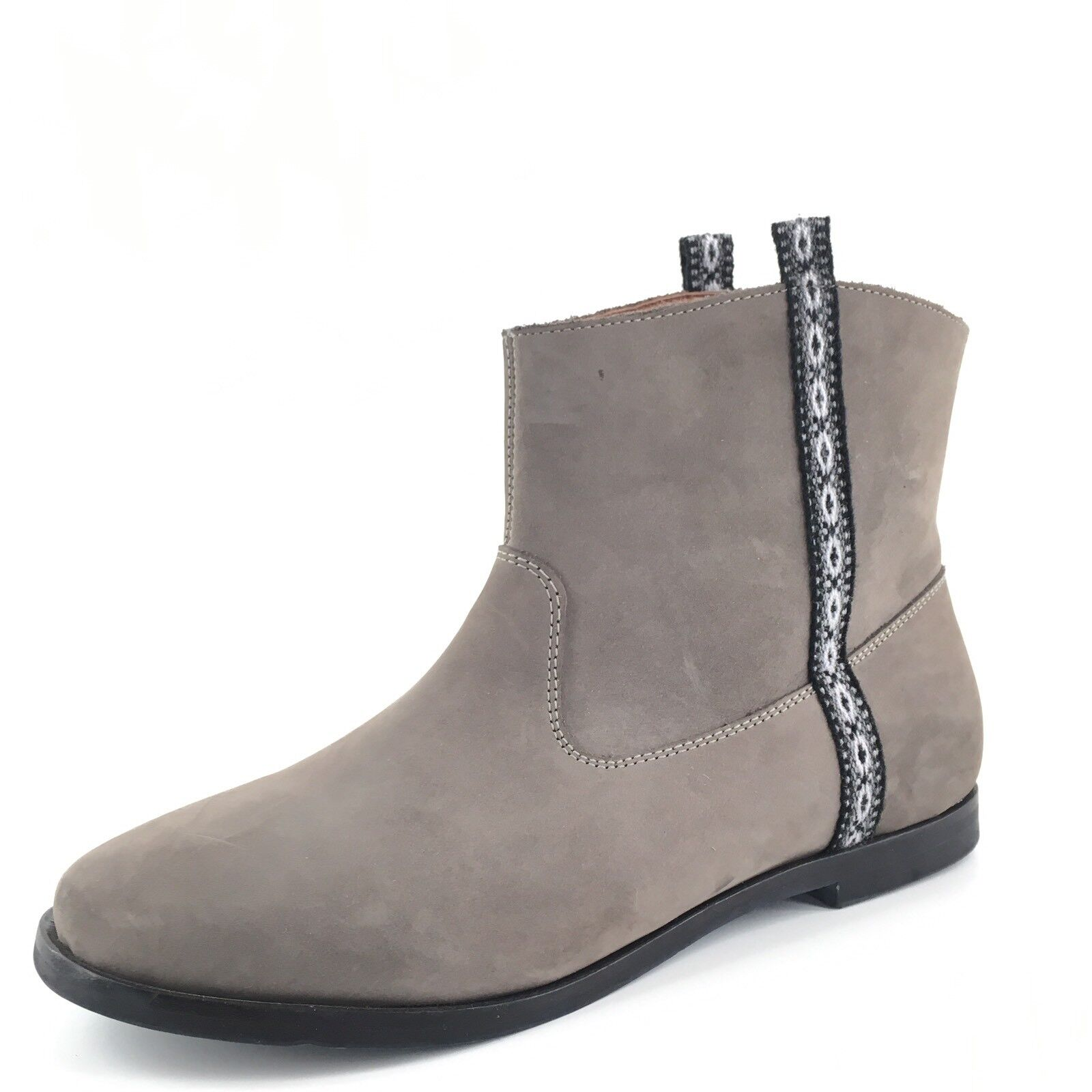 Fortress Of Inca Sofia Terra Gray Leather Short Boots Women's Size 8 M*
