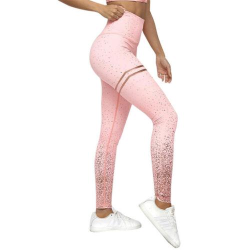 Womens Yoga Leggings Ombre Fitness Sports Run Gym Workout Jogging Pants Trouser