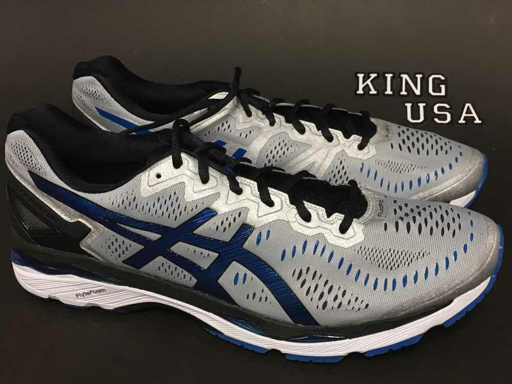 Men's Asics GEL-Kayano 23 Running Training shoes Silver Imperial Black 2E-Wide