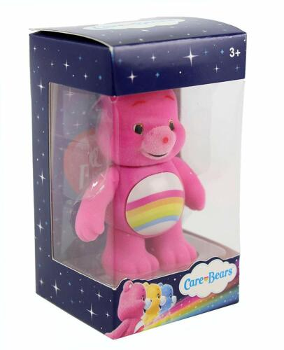 CARE BEAR MINI FLOCKED COLLECTIBLE FIGURES 7CM CHOICE OF 8 FAVOURITE BEARS-NEW
