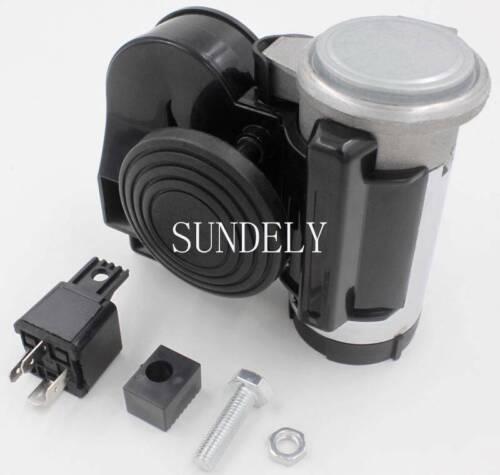 """Compact Black New /""""Tornado/"""" Car Bike 12 volt Air Horn LOUD 139Db"""