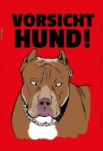 Precaucion-perro-chapa-escudo-Escudo-jadeara-metal-Tin-sign-20-x-30-cm