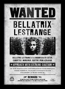 Harry-Potter-Bellatrix-Wanted-Framed-30-x-40-Official-Print