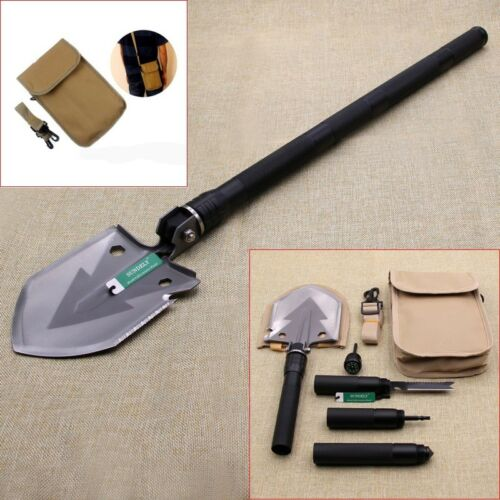 Black Utility Ordnance Folding Camping Shovel Outdoor Self-defense Survival Tool