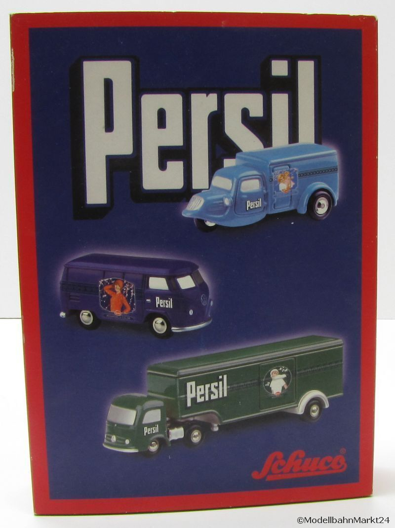 Schuco piccolo-set 01835 persil wirtschaftswunderzeit 3 pièces échelle 1 87 - OVP