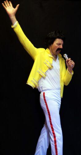50/'s-60/'s-Tribute Act BOHEMIAN FREDDIE ROCK STAR Fancy Dress Costume All sizes