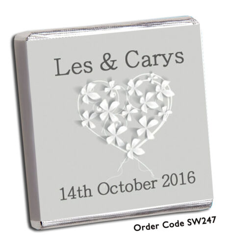 FREE P+P WOW!! BIGGEST CHOICE BEST CHOCOLATE PERSONALISED WEDDING FAVOURS