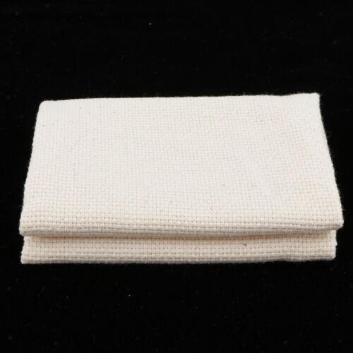 4 Stück Blank Baumwolle Mönch Stoff Aida Stoff Stickerei Teppich Hooking DIY