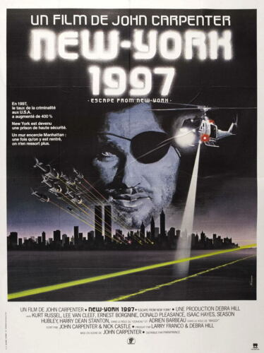 G3152 Escape From New York 1997 Movie 3 Vintage Laminated Poster FR