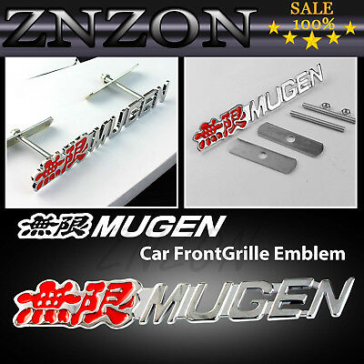 For Infiniti 3D Metal Racing Front Hood Grill Grille Badge Emblem MUGEN Logo