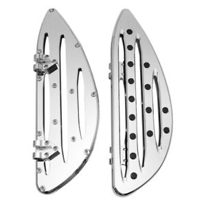 Chrome-Deep-edge-cut-Driver-Stretched-Floorboards-for-Harley-Glide-softail