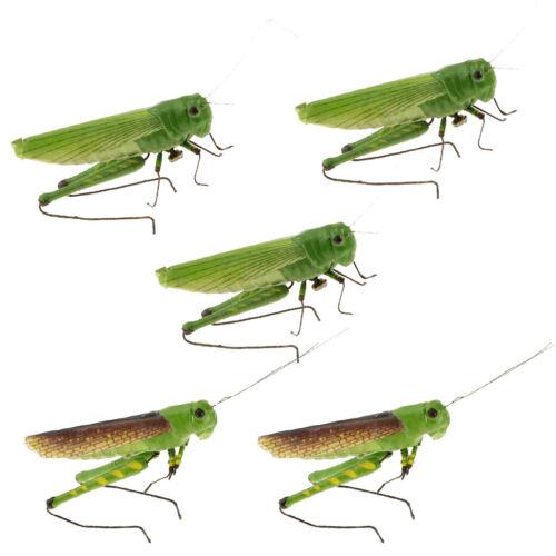 5pcs Simulation Artificial Insect Model Home Garden Decoration Locust
