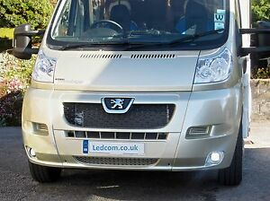 LED-Day-Running-Lights-Kit-DRL-Peugeot-Boxer-Van-and-Motorhome-2007-to-2014