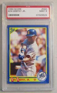 PSA-Graded-9-MINT-1990-Ken-Griffey-Jr-Score-Baseball-Card-560-MARINERS-HOF