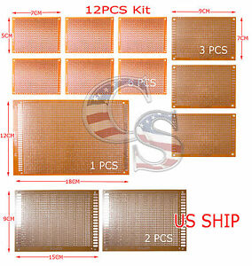 12pcs kit prototyping pcb printed circuit board prototype breadboard