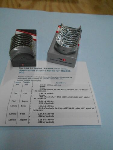 Fiat 124-131 2000 Spider 73-85  Main /& Rod Bearing Set .020 oversiz Brava
