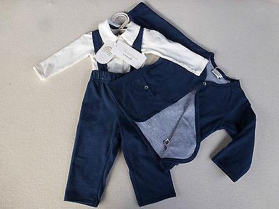 SCHIESSER Baby Boy TAUSENDSASSA Set Kombination Taufe Hochzeit 62 68 74 80 86