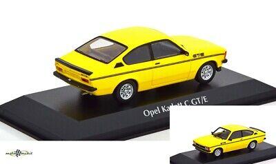 Opel Kadett C Coupe GT//E gelb 1:43 Maxichamps  Minichamps