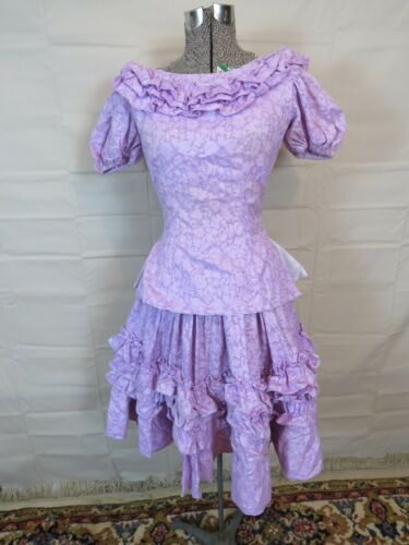 Square Dance Outfit Purple Dress Ruffle Rockabilly