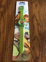 Ice Age Dawn Of The Dinosaurs Digital Watch - Rare - Nip Green Manny