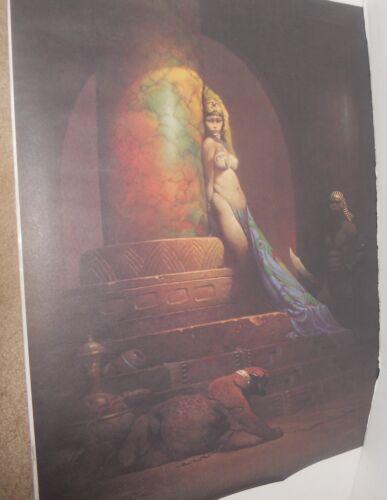 Vintage 1979 Frank Frazetta Egyptian Goddess Fantasy Poster Fairfax Prints MIP