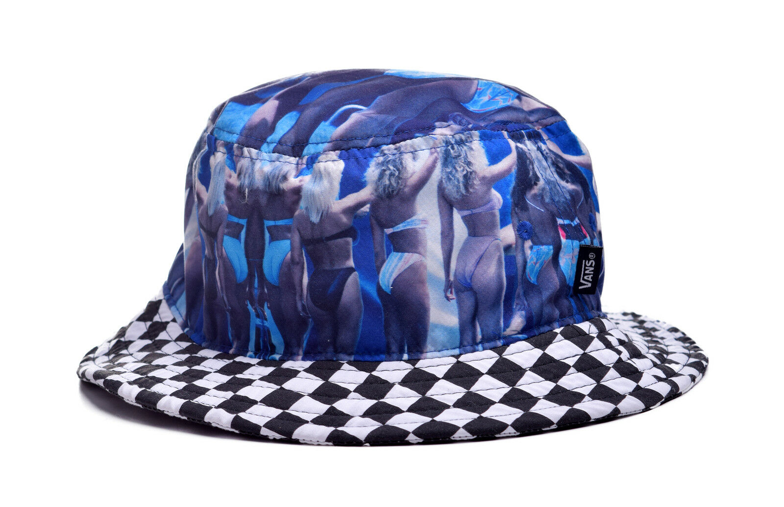 ce350c23 VANS off The Wall Hank Foto 2 Bucket Hat Cap Mens S/m Blue Bikini Checkered
