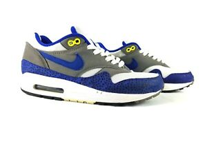 Nike-Men-039-s-2009-Air-Max-1-Safari-Hyper-Blue-Shoes-308866-142-Size-7-DS-Rare